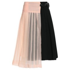 MARNI Asymmetric seersucker-paneled pleated crepe wrap skirt Women's Skirts qQiDvFl4O1c2BM