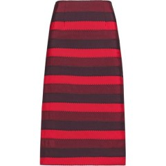 MARY KATRANTZOU Striped cotton-blend skirt Women's Skirts Cheap Sales PdrX2O1JozCdSl