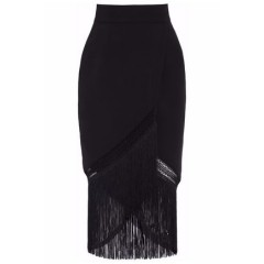 NICHOLAS Wrap-effect fringed crochet midi skirt Women's Skirts Discount Wholesale NhGCDBwEjVqdpH