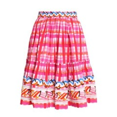 PETER PILOTTO Gathered printed cotton skirt Women's Skirts qg2lHLHRnFDJPi