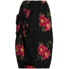 SIMONE ROCHA Knotted floral-jacquard skirt Women's Skirts bf0Al23COs7q4d