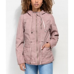 Empyre Alessia Washed Pink Twill Jacket Women's Light Jackets 38nlE11xqJpB8G