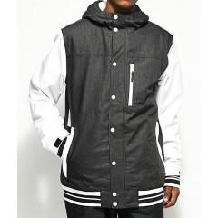 Aperture Outlaw Varsity Black & White 10K Snowboard Jacket Men's Light Jackets Cheap Online FF31depEMw71uC