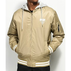 DGK Attack Khaki & White Bomber Jacket Men's Light Jackets Online Discount wNGjjZBREMt9LF
