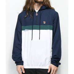 FILA Cipolla Navy & White Half Zip Jacket Men's Light Jackets Online Sale CAJZpMER4Pgm9B
