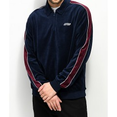 LRG Lifted Blue Velour Zip Track Jacket Men's Light Jackets Online Wholesale wA9DwlmQvDzzrE