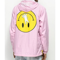 RIPNDIP Everything Will Be Okay Pink Anorak Jacket Men's Light Jackets Discount Sales 0COnVFSIAhpfbz