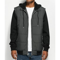 RVCA 2Fer Charcoal & Black Puffer Jacket Men's Light Jackets Online Discount bRI2CUhHNh9O1I