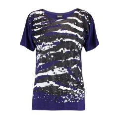 JUST CAVALLI Glittered printed stretch-jersey T-shirt New Arrival Women's T-Shirts NHvYvsloieH8KU