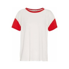 RAG & BONE/JEAN Two-tone cotton-jersey T-shirt New Arrival Women's T-Shirts Cheap Online ozMt2tw1vrw3I0