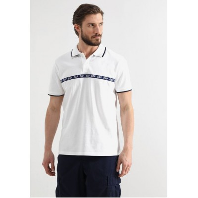 New Arrival Men's Polo Shirts GAP LOGO NOVELTY - Polo shirt - new off white ziwxJeBSlJnaFs