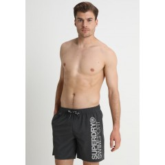 New Arrival Men's Swimwear Superdry SPORTS VOLLEY - Swimming shorts - anthracite Discount Sales u536pocpjydbT1