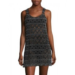J Valdi - Chevron Lace Cover Up Dress Women's Swimwear Cover-ups 6EmymEf6RvsS3b