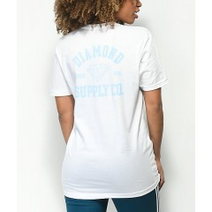 Diamond Supply Co. Athletic Logo White T-Shirt Women's Graphic Tee Cheap Sales UFOwMLQoibM5un