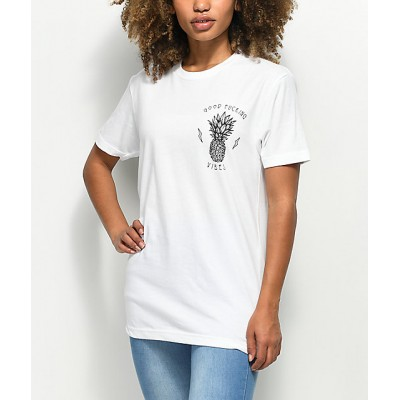 Rebel Soul Fucking Vibes White T-Shirt Women's Graphic Tee CcC05teHSMKr5R