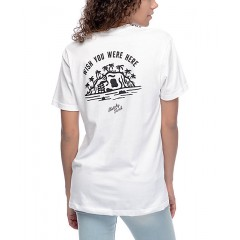 Sketchy Tank Wish You Were Here White T-Shirt Women's Graphic Tee ceEH5YMN1ohVyD